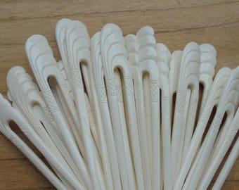 2 Prongs Bone Hair Sticks, Hair Pin, Hair Fork, Hair Accessories HS43