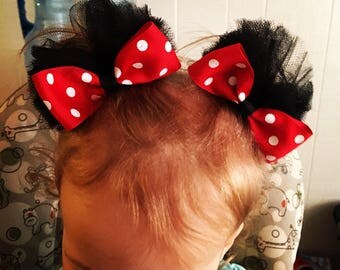 Minnie Mouse Ears Bows