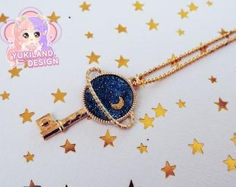 "Necklace ""Planet & galaxy"""