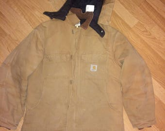 Carhartt Work Jacket with Detachable Hood 44 Regular FREE SHIPPING