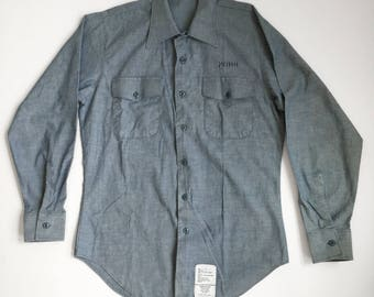 Military Issue - Light Blue Long-Sleeve Button-Up - Medium