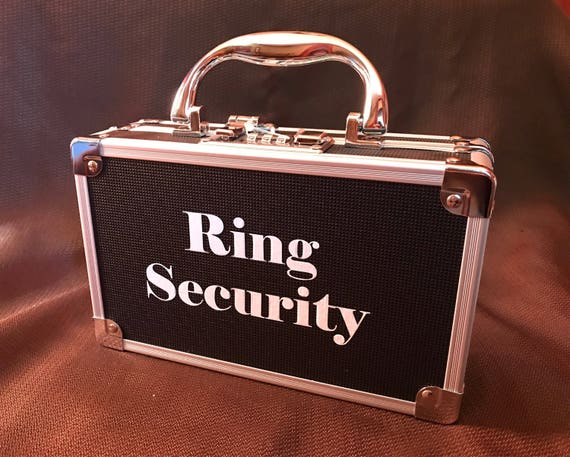 Ring security case ring bearer box for wedding ring security like this item junglespirit Images