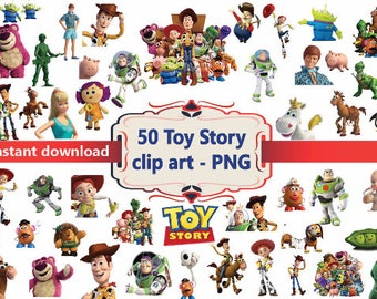 INSTANT DL- 50x Toy Story Disney - printable Digital Clipart Graphic Instant Download