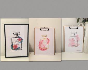 Chanel Bottle prints in a Range of styles