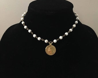 Marble Bead with Coin