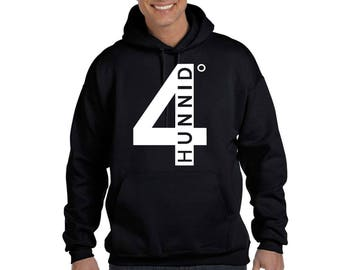 4 hunnid Hoodie YG Straight outta Compton Hip Hop Music Sweatshirt