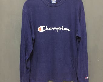 Rare!! Vintage!! Champion Big Logo!! Spell out!! Streetwear!! 90's style!! Made in usa!! tenage fashion!! Skateboarding!!