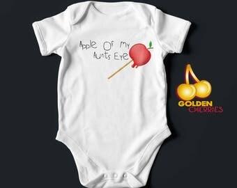Apple Onesie Various Names Available / Bodysuit  / Romper / T-shirt Great Gift Idea
