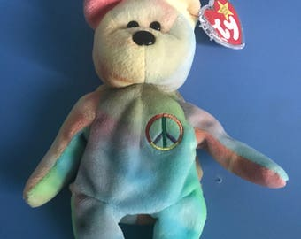 Rare Peace Beanie Baby with tag errors! Collectors item!