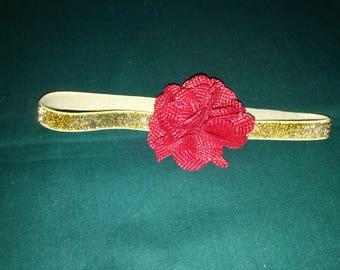 3-12 month Gold Glitter Headband