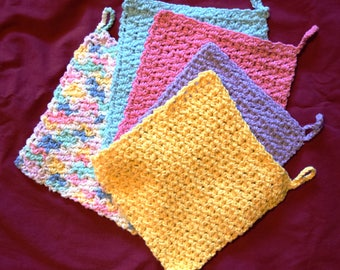 Spring Colors Cotton Dishcloths