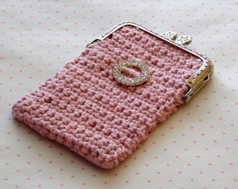 Multi functional purse in vintage antique pink