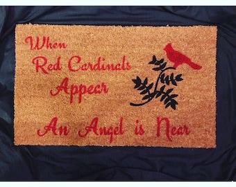 Red Cardinals doormat 18inx30in