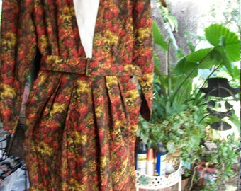 Vintage 1940's/1950's/1970's Floral Fall Dress