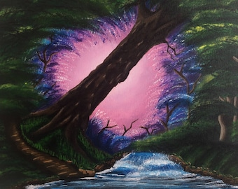 Into The Light-Acrylic Nature Painting-16x20