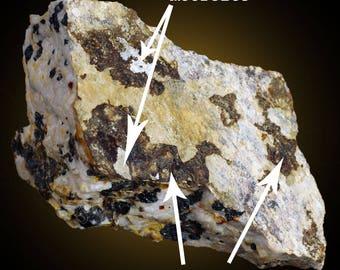 Mooreite, Neotocite, Antigorite, Franklinite, Zincite & Willemite; Sterling Hill, New Jersey, USA  --- minerals and crystals