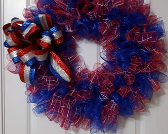 Patriotic Spirals with abow