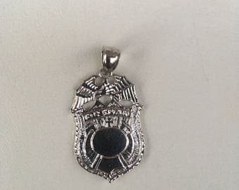 Fireman badge pendant