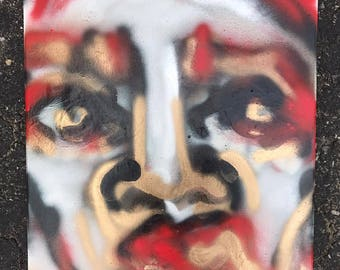 Red/Gold Spray Paint Portrait 2