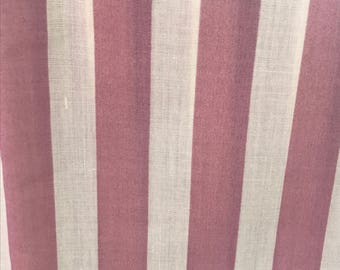 Vintage Mauve and Ivory Fabric