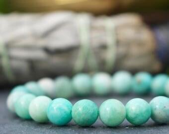 Energy ॐ Amazonite Mala Bracelet