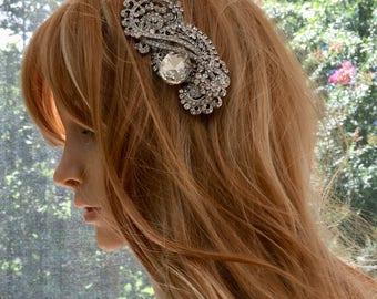 Bridal Hair Jewelry, Wedding Hair Jewelry, Rhinestone Hair Jewelry, Crystal Hair Jewelry, Silver Hair Jewelry