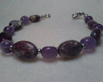 Beaded bracelet Fancy Jaspser Amethyst