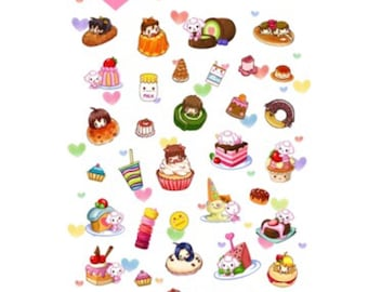 Daisyland Cute Dessert Stickers, Scrapbooking, Planner, Decoration, Craft, Journaling