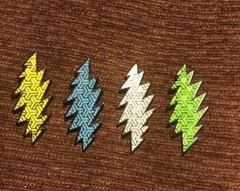 Grateful Dead 13 point lightning bolt hat pin