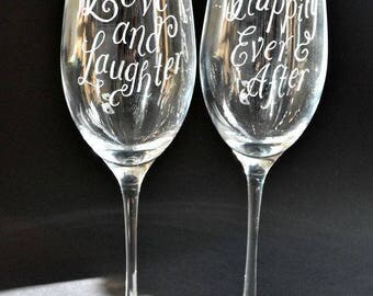 Personalised wedding flute