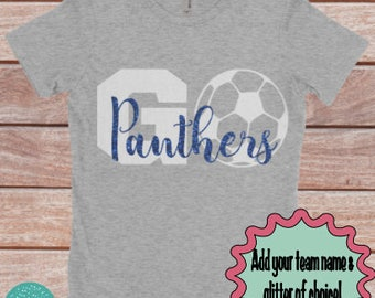Soccer mom shirt, Go team!, sports mom shirt, soccer mom, gift for soccer mom, gift for her, gift for mom, sports shirt, womens soccer shirt