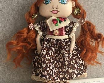 Interior doll, handmade doll, art doll, living doll