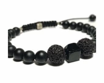 Black onyx beaded bracelets
