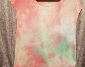 Cut off tie dye tank top