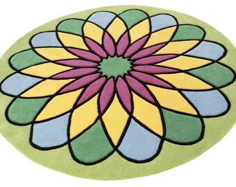 Mandala da colorare etsy - Tappeto mandala ...