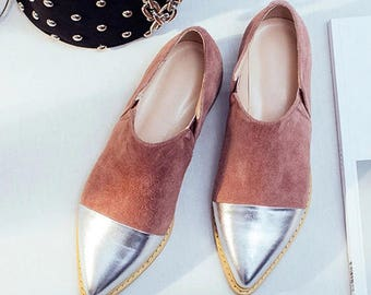 Chrome Pointed Toe SlipOns