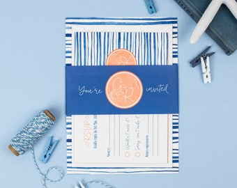Beach Blush Collection Wedding Invitation Suite - Personalised