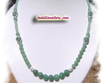 Aventurine necklace, 925 Silver