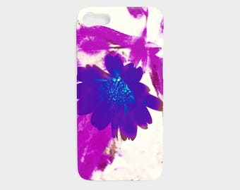 Cell Phone Case Magenta Floral - iPhone 7/7 Plus, 6/6s Plus, 5/5s, Samsung Galaxy S7, S6, Edge, S5, S4, S3