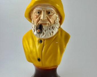 Vintage Sea Captain Bust Fishermsn Statue
