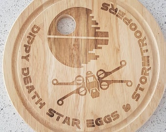 Personalised Egg-cellent Egg Boards laser engraved fun for breakfast kids of all ages young and old
