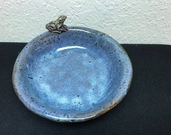 USA, Frog on a bowl