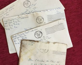 Soldier In Love 1945 Coorespondence 4 Letters Hand Written Camp Lee Va.