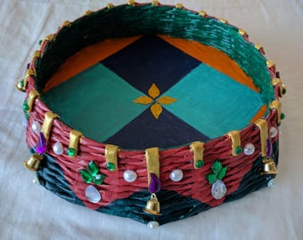 Decorative basket - handmade and environment friendly