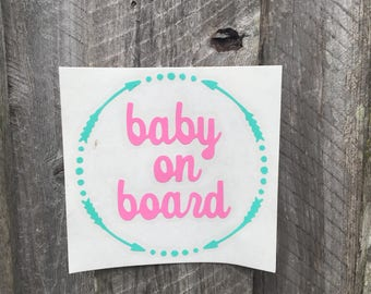 Baby on Board Decal, Baby shower gift, Baby gift, Baby decal