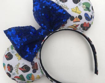 Disney inspired Minnie Mouse ears Hats of the Movies Minnie Mouse Ears