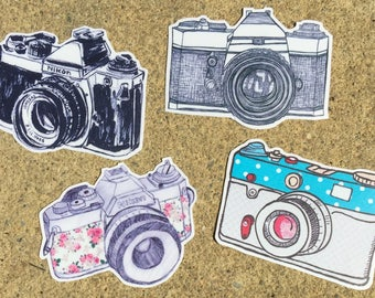 Decal(Camera-Choose Your Color!)-Laptop Decal/Laptop Sticker/Phone Decal/Phone Sticker/Car Sticker/Car Decal/Water Bottle Sticker