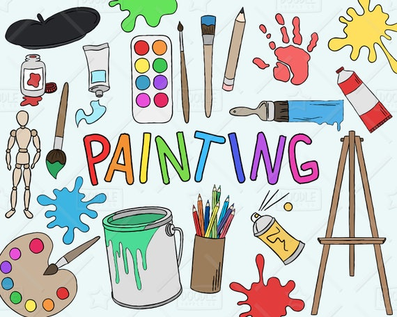 Painting clipart vector pack art clipart hobby clipart for Art sites like etsy