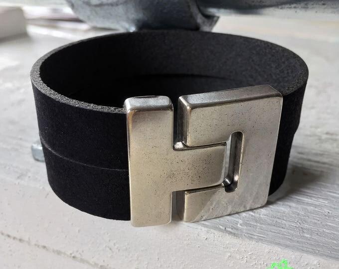 Free shipping within NL bracelet bracelet mens bracelet leather leather Black