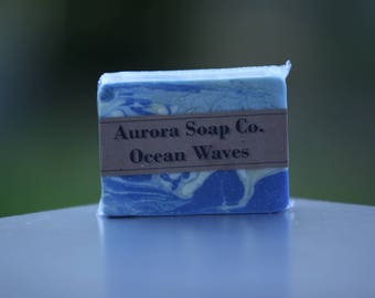 3 Soap Bars - Ocean Waves - Handcrafted Artisan Soap Bars